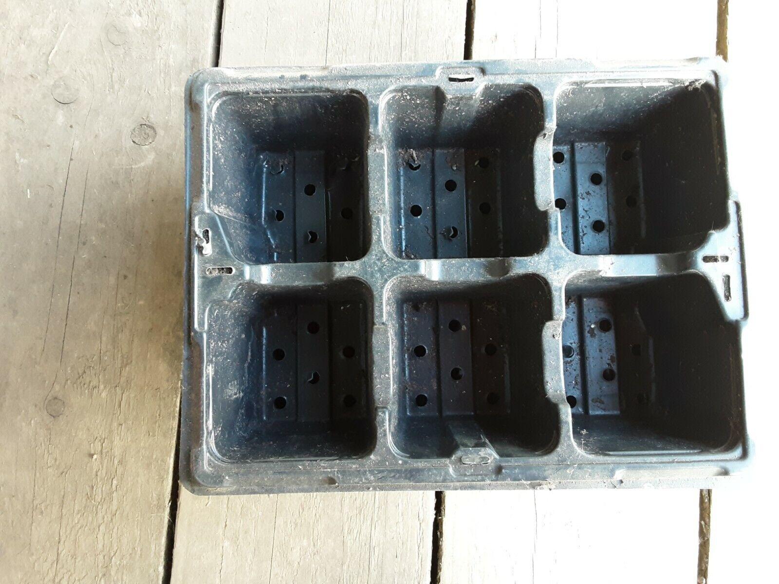 10 Black Plastics Cell Potting Trays
