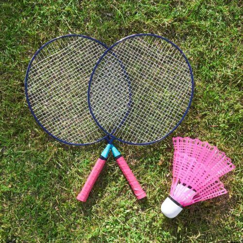 Pink /& Blue Giant Badminton Set