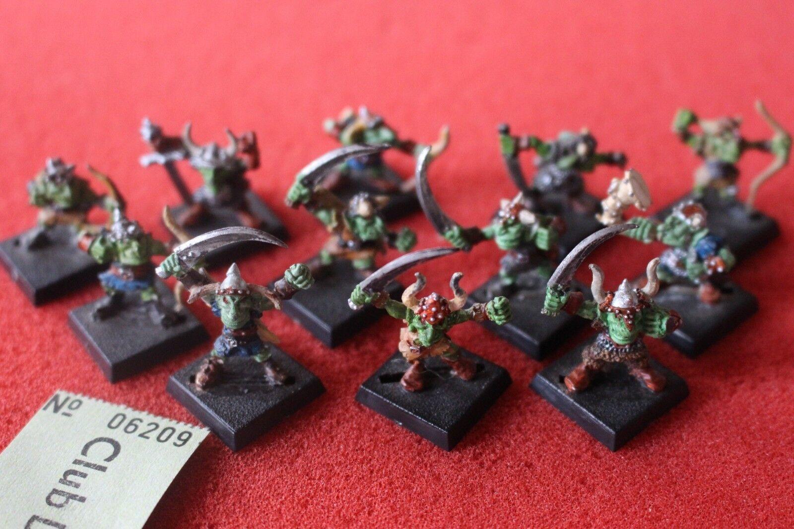Games Workshop Warhammer Goblins MB04 Marauder Goblin Regiment 12 Metal Figures