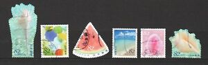 JAPAN-2017-GREETINGS-SUMMER-82-YEN-COMP-SET-OF-6-STAMPS-IN-FINE-USED-CONDITION