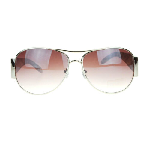 Womens Retro Fashion Animal Print Leopard Designer Diva Large Aviator Sunglasses