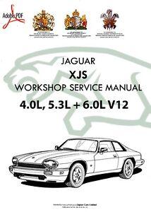 1992 1996 jaguar xjs xj s workshop service repair manual 4 0l 5 3l rh ebay co uk