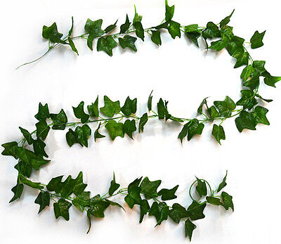Artificial Ivy Vine Plant Foliage Garland Wedding Decor 9ft Green