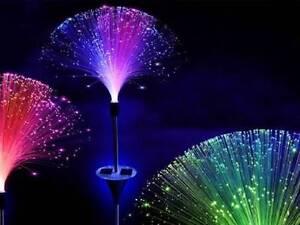 X 3 Couleur Changeante Solaire Fibre Optique Lampe Led Jardin Voie