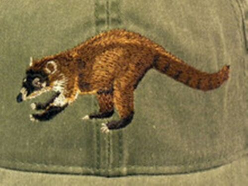 Coati Mundi Embroidered Cotton Cap NEW Wildlife