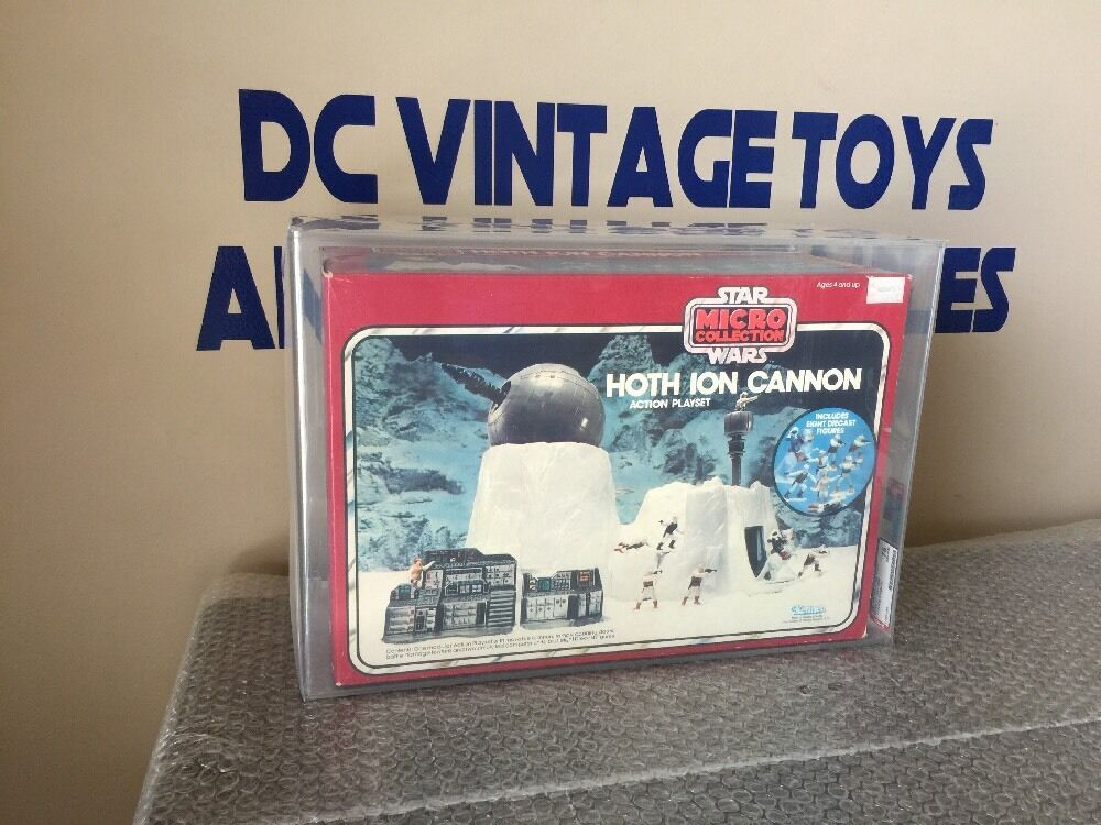 Vintage Star Wars Hoth Ion Cannon New MISB Micro Collection Kenner 1982 AFA 75