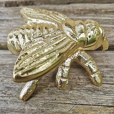Fein Dekofigur Biene Bienenfigur Gold Statue Figur Fliege Metall Insekt Dekoration