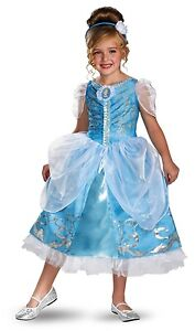 Disney-Cinderella-Princess-Sparkle-Deluxe-Polyester-Girls-Costume-Blue-White