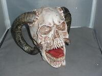 DEMON SKULL     Gothic Ram Horned Demon Beast Skull