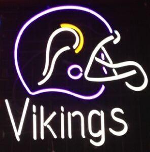 New Minnesota Vikings Helmet Neon Light Sign 19x15 Ebay