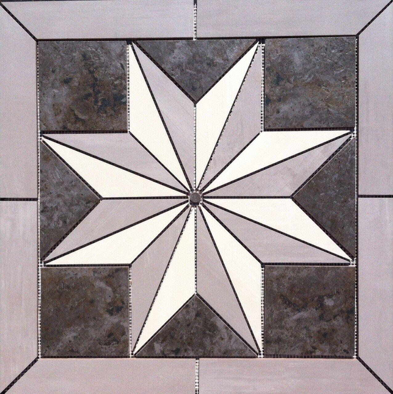 22 1 4  X 22 1 4  Tile Medallion - Daltile's Skybridge & Heathland tile series
