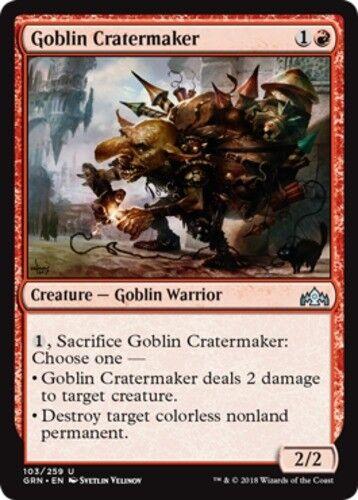 English x4 Goblin Cratermaker MTG Guilds of Ravnica U M//NM