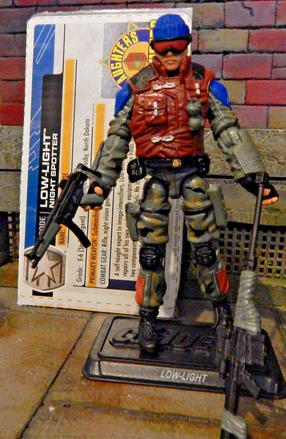 GI JOE  2011 LOW LIGHT SLAUGHTERS MAURADER   30TH  BBTS COMPLETE W  file card