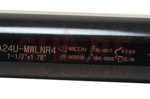 "SHARS 1-1//2/"" 1.5/"" x 14/"" RH MWLN Coolant Through Boring Bar For WNMG Inserts NEW"