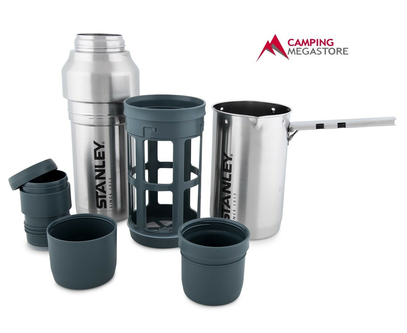 STANLEY MOUNTAIN 1L COFFEE SYSTEM - BOILING POT FRENCH PRESS  VACUUM BOTTLE
