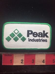 Vtg-PEAK-INDUSTRIES-Advertising-Uniform-Patch-70E0