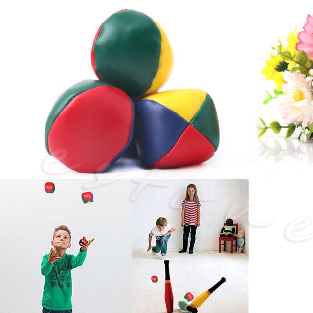 3 Juggling Balls Set Classic Bean Bag Juggle Magic Circus Beginner Kids Toy Gif