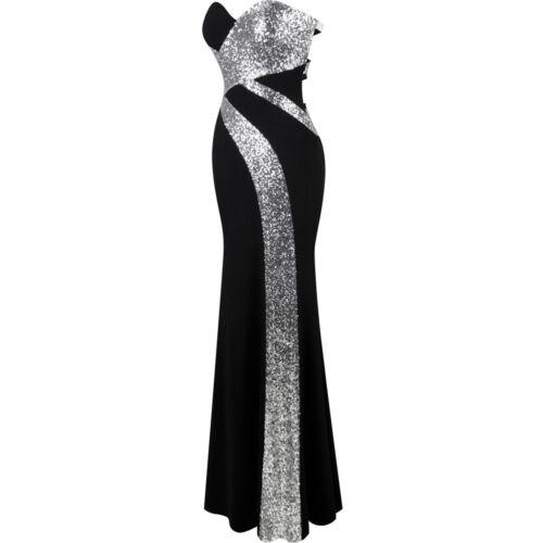 Angel-fashions Damen Trägerlos Schatz Kreuz und quer Klassisch Abendkleid 331