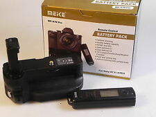 Sony Alpha 7 R II: Battery grip Meike di con telecomando