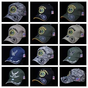c78c03423ed USA Air Force Army Hat Military U.S. Flag Hats Baseball Cap Veteran ...