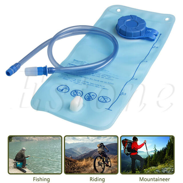 2L Bicycle Bike Cycling Mouth Water Bladder Bag Hydration Camping Sports Blue AU