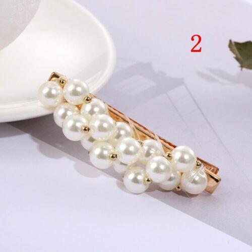 Minimalist Metal  Hairgrip Pearl Hair Clip  White  Handmade Braided Hairpin