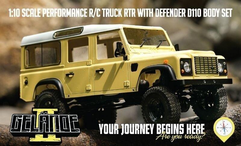 Rc4wd Gelande II LWB 4wd camión con d110 carrocería set 100% rtr-RC 4 planteabala 0032