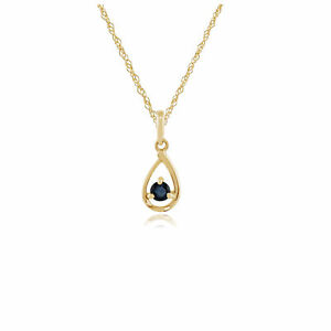 Gemondo-9ct-Yellow-Gold-Single-Stone-0-16ct-Sapphire-Pendant-on-Chain