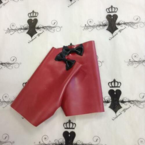 R1649 Rubber Latex MITTS *Red//Black* MEDIUM Westward Bound Seconds RRP £23.10