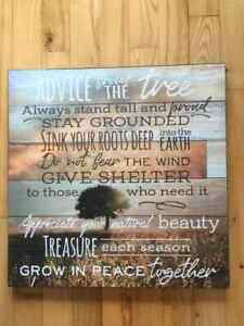 """Advice from a Tree Inspirational Novelty 5.5/""""x8.5/"""" Wood Sign Plaque for Wall"""