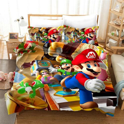 Super Mario Bros 3d Bedding Duvet Cover, Super Mario Bros Full Size Bedding
