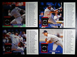 Details About 1994 Donruss Series 2 Unmarked Checklist Team Set Of 4 Baseball Cards
