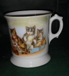 Cats Playing Musical Instruments Antique Child S Mug Shaving Mug Early Germany Ebay