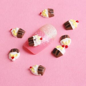 20x-Resin-3D-Cup-Cake-Nail-Art-Stickers-Glitters-Tips-Acrylic-DIY-Decoration-3