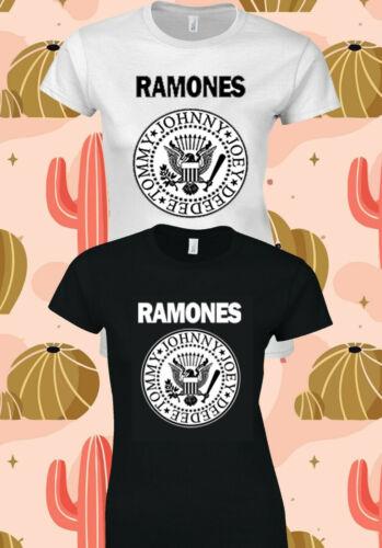 Le Ramones American punk rock band Femmes T-shirt Concert T-shirt 156