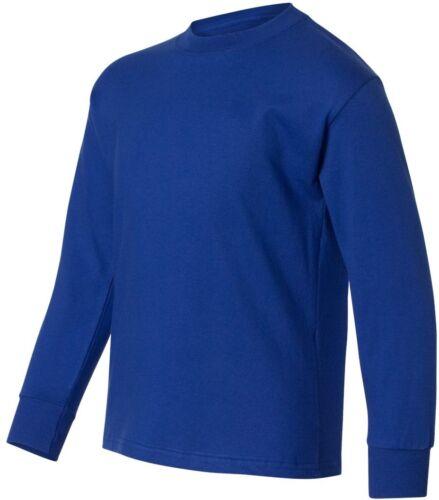 Hanes Youth Tagless 100/% ComfortSoft Cotton Long Sleeve T-Shirt 5546
