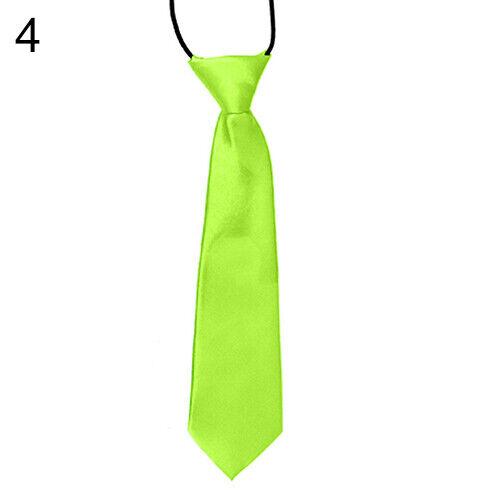 Bg /_ Junge Kinder Kinder Hochzeit Schule Satin Einfarbig Elastisch Krawatte Lind