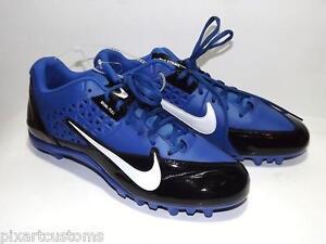 MEN'S NIKE ALPHA STRIKE 3/4 D LOW FOOTBALL CLEATS SHOES BLUE BLACK SIZE 13 NEW
