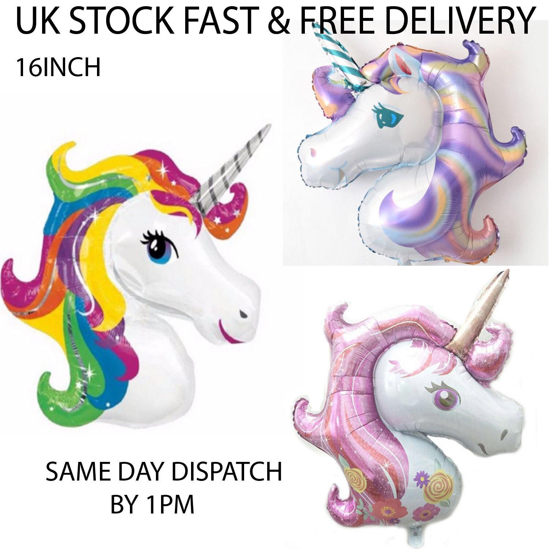 6 Globos cabeza de unicornio arcoiris decoracion fiesta medida 50 30 cm