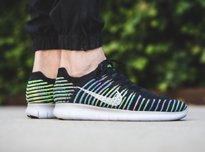 NEW NIKE FREE RN FLYKNIT 831069-003 MULTI COLOR size 10