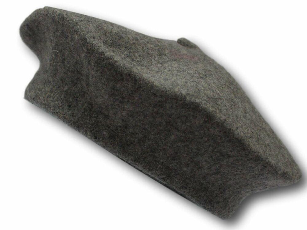100% Pure Laine Fashion Béret-gris Clair-unisexe-pour Hommes & Femmes
