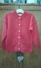 Lovely Guernsey red knit wollen cardigan 42""