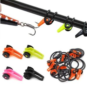 30Pcs-set-Fishing-Rod-Secure-Hook-Keeper-Holder-Lures-Jig-With-Rubber-Rings-DMF