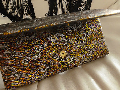 Soirée Schal mit passenender Handtasche, orientalisch, glänzend, Brokat