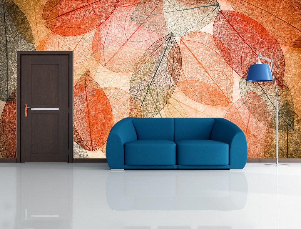 3D Leaves Graffiti Paper Wall Print Wall Decal Wall Deco Indoor Mural