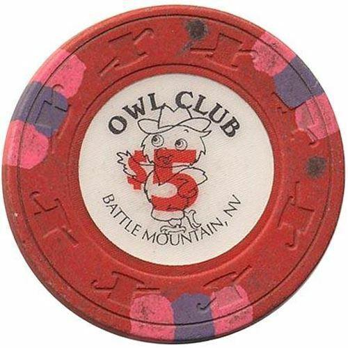Owl Club Casino Battle Mountain NV $5 Chip 1991