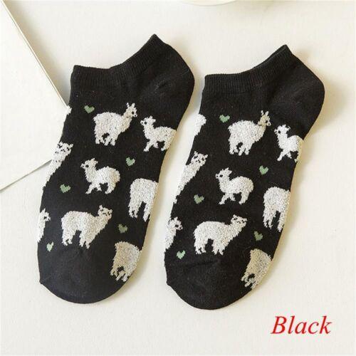 Alpaca Tube Socks Japanese Women Animal Cartoon boatsocks Pure Cotton Socks Gift