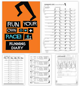 a5 running diary running fitness tracker run exercise log book