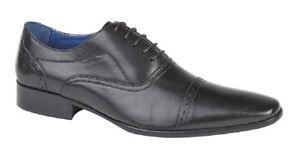 Smart Oxford Mens M9538a Black in Shoes Roamers pelle Cap Piuma 1C8Twq