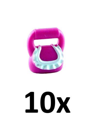 Lego 10x Handtasche purpur magenta light aqua  Handbag Friends Neu 93090pb03